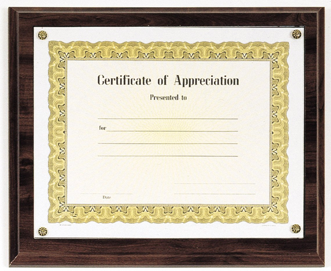 Cherry Finish Certificate Plaque Recognition Awards Trophies Inc